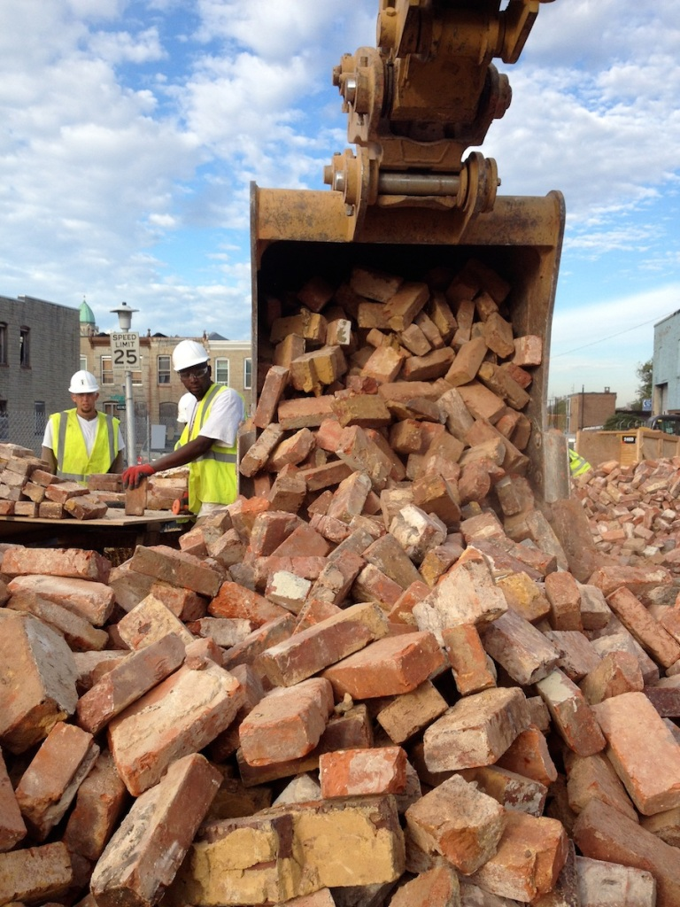 Reclaimed bricks baltimore brick by brick for House piles