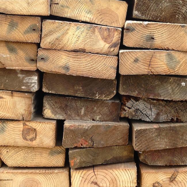reclaimed wood end grain
