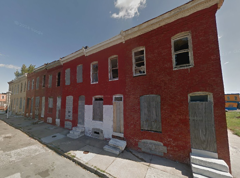 The 1200 block of N Bradford Street