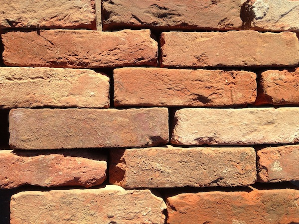 Image result for dry stacked brick wall